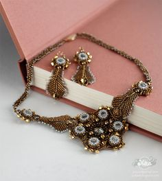 """necklace and earrings """"Casual Opulence"""" by Yuliyart, via Flickr"""
