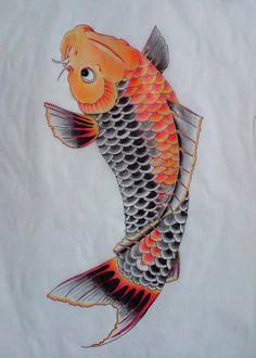 fish art | Tattoo Flash Koi - Free Download Tattoo #26332 Tattoo Flash Koi With ...