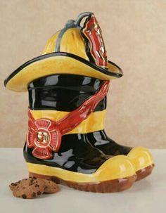 Firefighter Cookie Jar