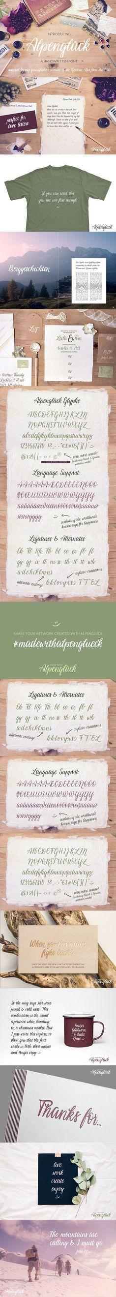 cursive fonts for wedding cards%0A Alpenglueck  a handwritten font