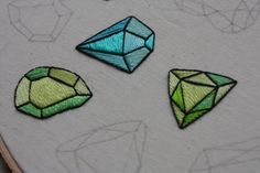 embroidered gemstones! so cute!!!
