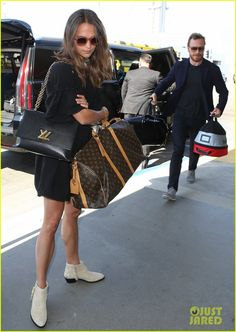 Michael Fassbender & Alicia Vikander Catch a Flight Out of L.A.
