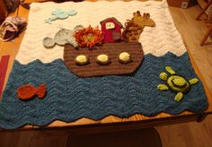 Such a sweet blanket! When my son was born this was his nursery theme.