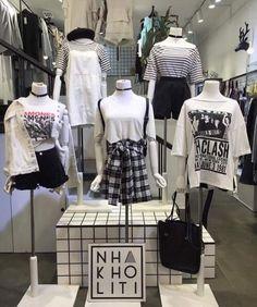Black K Fashion inspired lo mas reciente en moda Fashion 90s, Ulzzang Fashion, Korea Fashion, Grunge Fashion, Cute Fashion, Asian Fashion, Look Fashion, Fashion Outfits, Womens Fashion