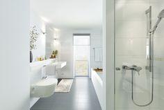 Baden oder Duschen? Das besondere bei diesem Neubauprojekt sind die großzügigen…