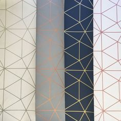Science Wallpaper Bedroom - Metro Prism Geometric Triangle Wallpaper Grey and Rose Gold Geometric Triangle Wallpaper, Wallpaper Bedroom Geometric, Girls Bedroom Wallpaper, Kitchen Wallpaper, Interior Wallpaper, Easy Wallpaper, Kawaii Wallpaper, Home Wallpaper, Interior Doors