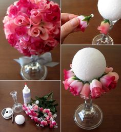 Easy to Make Flower Ball Bouquet for You to Try - http://www.amazinginteriordesign.com/easy-make-flower-ball-bouquet-try/