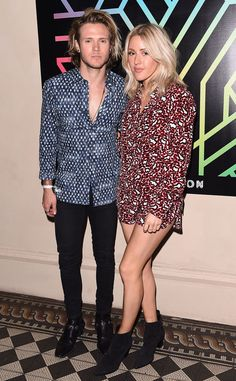 Ellie Goulding & Dougie Poynter from The Big Picture: Today's Hot Pics The coordinating couple cuddle up at the London launch party for Years & Years' new album Communion.