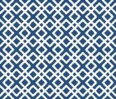 Weave Ikat in Navy Blue or Indigo fabric by fridabarlow on Spoonflower - custom fabric