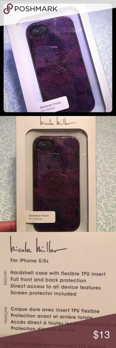 NWT Nicole Miller Shimmer iPhone 5/5S Case Please feel free to ask questions... Nicole Miller Accessories Phone Cases