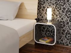 Rounded bedside table