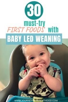 30 First Foods Using Baby Led Weaning : Introducing Solids to Infant - - 30 First Foods Using Baby Led Weaning - 3 Months Worth of Feeding Ideas for Your Baby with BLW. Allow Baby to Feed Themselves and Enjoy Introducing Solids! Baby Led Weaning Breakfast, Baby Led Weaning First Foods, Baby First Foods, Baby Weaning, Baby Finger Foods, Baby Foods, Weaning Toddler, Feeding Baby Solids, Solids For Baby