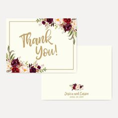 27 Best Wedding Thank You Cards On Etsy Images On Pinterest Print