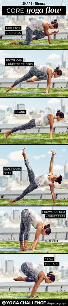 Week 2 of our Yoga Challenge with Fitness Magazine and Two Fit Moms. Strengthen your core with beauty and grace with asanas that work your abs.  repined by YogiFit.me  yoga | yogi | yogainspiration | fitness | vegetarian