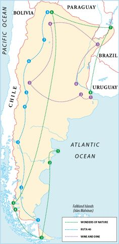 Itineraries - The following itineraries will take you to every corner of the country, via both well-known sights and less visited ones, from the crashing Patagonia glaciers to off-the-beaten-track villages. Given the size of the country and …