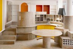 odile decq / appartement de l'artiste en résidence, palais bulles de pierre…