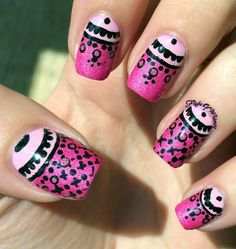 Pink Lacy Half Moons