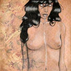 SoulMilk - Original Drawing by Heather Rose - $150
