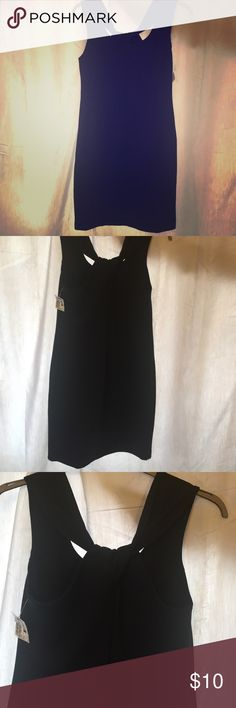 Simple Stretchy Black Dress 72% Polyester 23% Rayon 5% Spandex. I bought this from Clothes Mentor and never ended up wearing it. Any questions just let me know! Banana Republic Dresses Mini