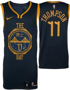 4c72c48c4e1 Klay Thompson Golden State Warriors Autographed Navy Nike 2018-19 City  Edition Swingman Jersey - Authentic Signed
