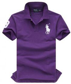POLO RALPH LAUREN YACHT CLUB POLO purple with white logo
