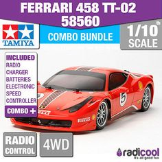 #Combo deal! 58560 tamiya ferrari 458 #challenge tt-02 1/10th r/c #radio control,  View more on the LINK: 	http://www.zeppy.io/product/gb/2/351776402071/