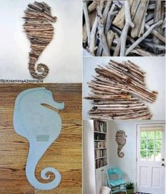 Diy driftwood wall decoration
