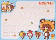 orange mandarin bear block Note Pad by Q-Lia 7