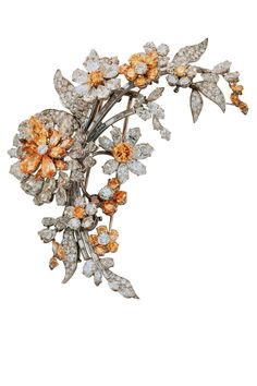 Bulgari. Tremblant platinum brooch with yellow and white diamonds (1962). COURTESY OF THE FINE ARTS MUSEUMS OF SAN FRANCISCO