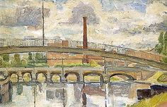 The Bridge at Auxerre, France by Vanessa Bell  ca.1953