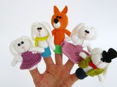 Crochet Fairy Tale  Finger puppets  Crochet finger by lamicogufo, $30.00
