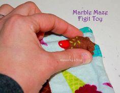 Marble Maze - Fidget Toy - Sensory Processing - Travel Toy - Sensory Toy - Tactile Exercises - Fine Motor - Waldorf - Montessori