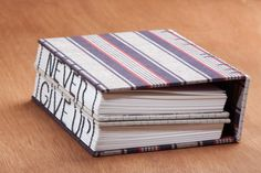 """Secret Belgian Binding and Coptic stitch """"Never Give Up"""" 