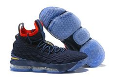the best attitude af9ce 11358 Retail Nike LeBron 15 Pride of Ohio Dark Blue Red Men s Sneakers Basketball  Shoes
