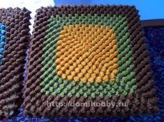 Вязание чехлов на табуретки