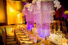 The Wedding Junction Show : For Your Dream Bollywood Wedding! Indian Destination Wedding, Head Table Decor, Crystal Centerpieces, Bollywood Wedding, Wedding Decorations, Table Decorations, Wedding Website, Bridal Make Up, Wedding Details