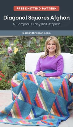 Indulge in a warm snuggle with this wasy knit afghan wrapped around you on chilly days. This free pattern is great for beginners to work on. Enjoy it as a fall or winter knitting project. | More free knitting patterns and tutorials at learnknittingonline.com #easyknittingprojects #handknitblanket #fallknittingpatterns #winterknittingpatterns #DIYknitblanket #handknitblanket Hand Knit Blanket, Afghan Blanket, Winter Knitting Patterns, Free Knitting, Stay Warm, Warm And Cozy, Lion Brand Patterns, Easy Knitting Projects, Knitted Afghans