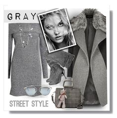 """""""Cool Weather Gray"""" by fernshadowstudio-com ❤ liked on Polyvore featuring River Island, John Hardy and Christian Dior"""