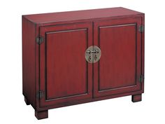 Rent the Red 2 Door Cabinet