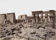 H. Bechard - Philae Vue Générale des Temples, Egypt, ca 1870