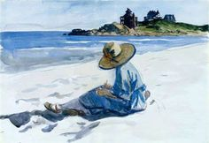 Edward Hopper (1882-1967): Jo Sketching at Good Harbor Beach, Gloucester (c.1925-28.)