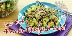 Low-Carb Avocado-Thunfisch-Salat - Dieser Salat ist durch die Saltgurke nicht nur herrlich erfrischend, er sättigt dabei auch noch ausgezeichnet.