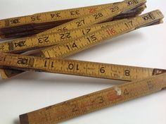 Vintage Lufkin wood  wooden tape measure measuring tool by Hannahandhersisters on Etsy