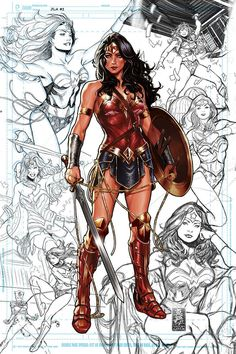 Justice League #1 variant cover - Wonder Woman by Mark Brooks *