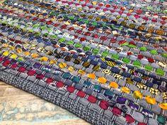 Fair Trade Denim & Cotton Multi Coloured Rag Rug - Various Sizes Available.