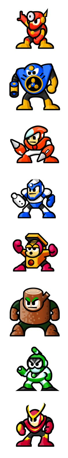 "MegaMan ""Sprites""-Bosses of 2 by WaneBlade on DeviantArt"
