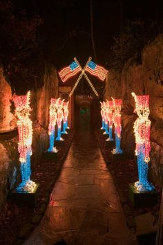 Visit The Rock City Gardens Enchanted Garden Of Lights Through December  From To P.