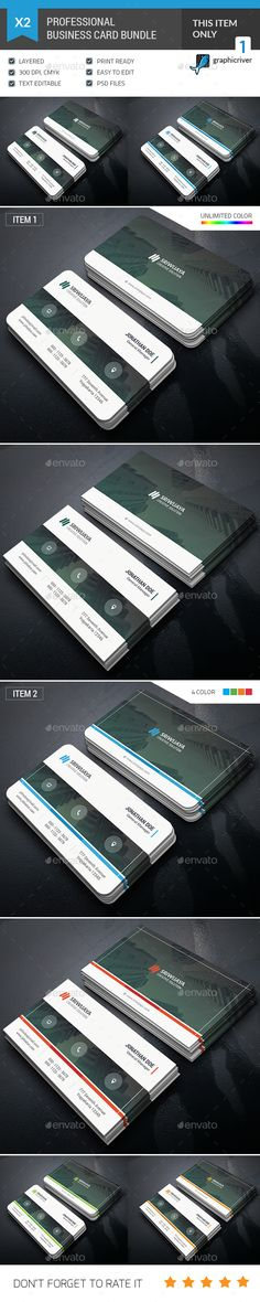 Business Card Template PSD Bundle. Download here: http://graphicriver.net/item/business-card-bundle/15731655?ref=ksioks