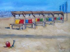 Welcome to the beach Dutch oil painting by NancyvandenBoom on Etsy, €165.00