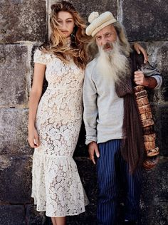 Gigi Hadid & Domhnall Gleeson pose in Portugal for Vogue US November 2015 by Mario Testino [fashion]